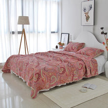 Load image into Gallery viewer, Bedspread Set 3pcs Red paisley