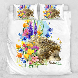 Customised Hedgehog Quilt Cover Set - Various Styles