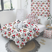 Load image into Gallery viewer, Bulldog Xmas Quilt Cover Set - Merry Christmas