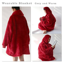 Load image into Gallery viewer, Blanket Hoodie - Dachshund in Love