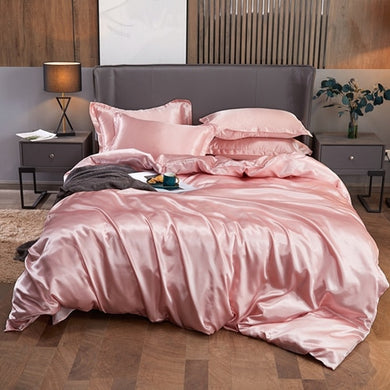 Satin Bedding Set - Rose
