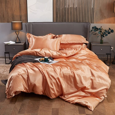 Satin Bedding Set - Apricot