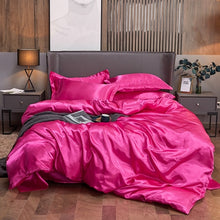 Load image into Gallery viewer, Satin Bedding Set - Hot Pink