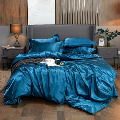 Satin Bedding Set - Royal Blue