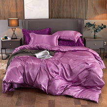 Load image into Gallery viewer, Satin Bedding Set - Deep Pink