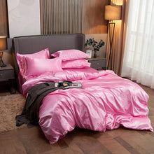 Load image into Gallery viewer, Satin Bedding Set - Soft Pink