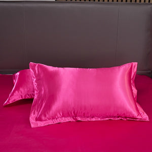 Satin Bedding Set - Hot Pink
