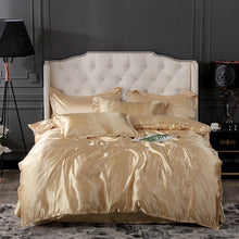 Load image into Gallery viewer, Satin Bedding Set - Pure Gold