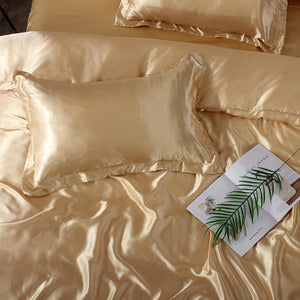Satin Bedding Set - Pure Gold