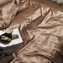 Load image into Gallery viewer, Satin Bedding Set - Old Gold