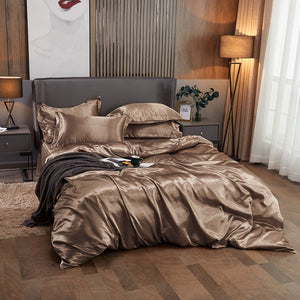 Satin Bedding Set - Old Gold