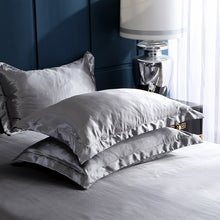 Load image into Gallery viewer, Satin Bedding Set - Silver