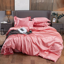 Load image into Gallery viewer, Satin Bedding Set - Peach