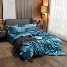 Load image into Gallery viewer, Satin Bedding Set - Opal Blue