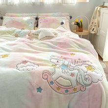 Load image into Gallery viewer, Luxury Lovely Rainbow Unicorn Bedding Set