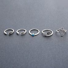 Load image into Gallery viewer, Vintage Tibet Silver Ring Sets of 9 Pieces