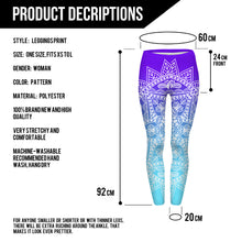 Load image into Gallery viewer, Blue Mandala Leggings