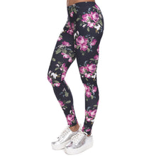Load image into Gallery viewer, Retro Roses Leggings