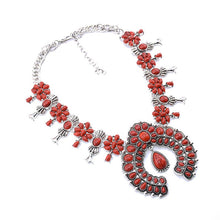 Load image into Gallery viewer, Tibetan Silver Necklace in Blue, Red or Black