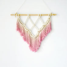 Load image into Gallery viewer, Macrame Wall Art Pink Lace