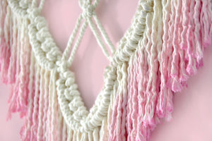 Macrame Wall Art Pink Lace