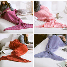 Load image into Gallery viewer, Mermaid Tail Blanket for Babies, Kids and Adults in 10 Colours