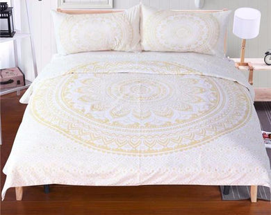 Light Mandala Bed Set