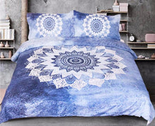 Load image into Gallery viewer, Cobalt Blue Mandala Bed Set