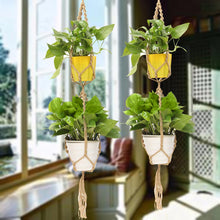 Load image into Gallery viewer, Double Macrame Plant Hanger