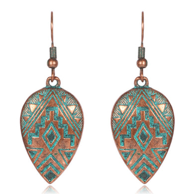 Patina Water Drop Earrings