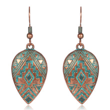 Load image into Gallery viewer, Patina Water Drop Earrings