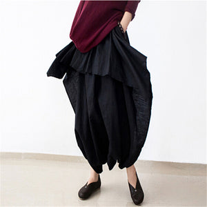 Linen Asymmetric Pants