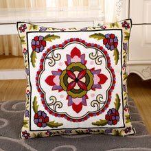 Load image into Gallery viewer, Flower Embroidery Cushion Cover