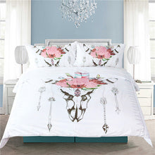 Load image into Gallery viewer, Bull Head Skull Bed Set