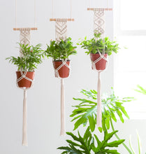 Load image into Gallery viewer, Macrame Plant Triple Hanging