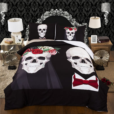 Skull Wedding Bedding Set