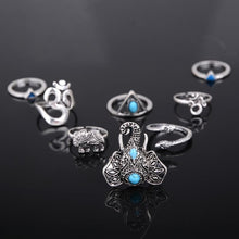 Load image into Gallery viewer, Elephant 8pcs Ring Set