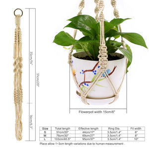 3 Pieces Macrame Rural Plant Hanger
