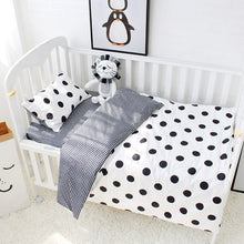 Load image into Gallery viewer, Dots 3Pcs Baby Bedding Set - 100% cotton