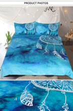 Load image into Gallery viewer, Blue Dreamcatcher Bed Set