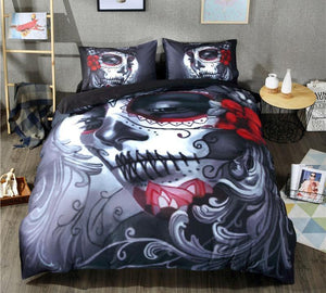Black Skull Bedding Set