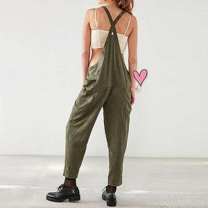 Backless Linen Overall