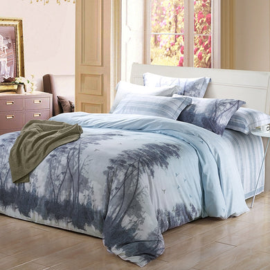 Bamboo Cotton Bedding Set - 4 Nature Designs