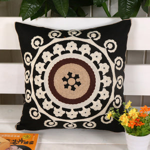 Lumbar Embroidery Cushion Case