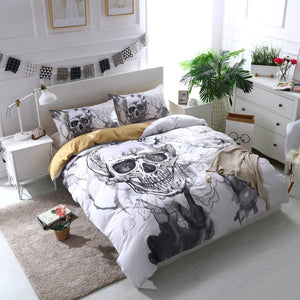 Forever Flowers Skull  Bedding set