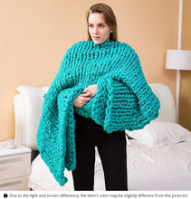 Load image into Gallery viewer, Hand Knitted Throw - 14 colours