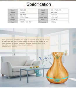 Wood colour Ultrasonic Humidifier With 7 Color Lights