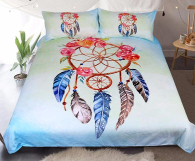 Dreamcatcher Floral Rose Bed Set