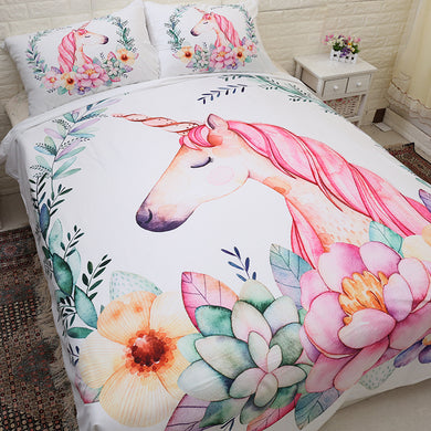 Sleepy Unicorn Bedding Set