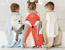Load image into Gallery viewer, Animal Cartoon Baby Blanket